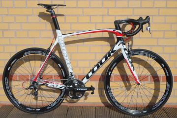 Look 695 iPACK WHITE RED Sram Force